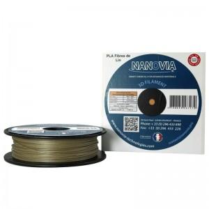 Bobine de PLA renforcé en fibres de lin de Nanovia