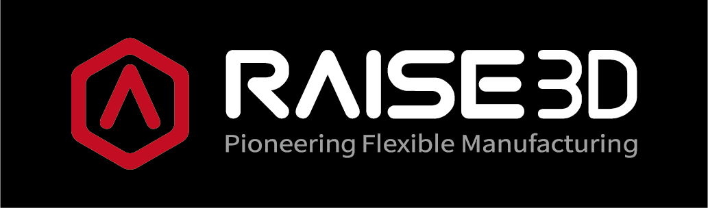 "Logo Raise 3D ""Pioneering Flexible Manufacturing"""