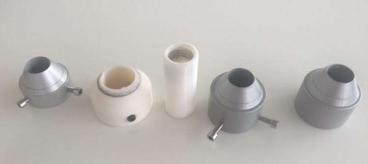 Liaison d'un enrouleur de filament réalisée en Impression 3D au lieu d'usinage