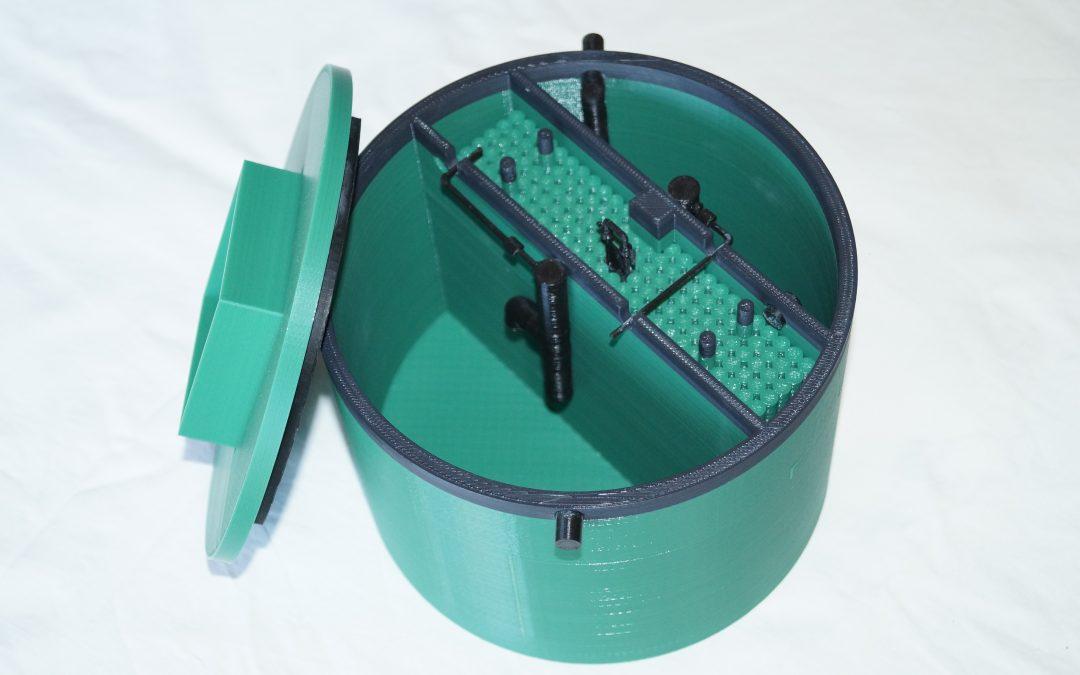 Maquette à l'échelle (1:10) d'une micro station d'épuration