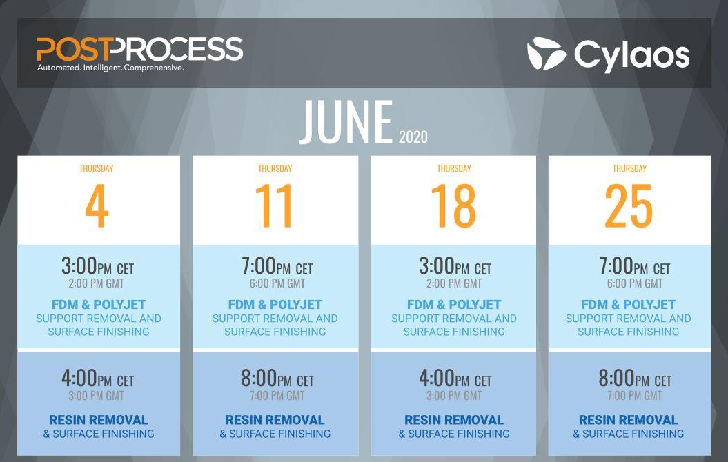 calendrier live experience tour PostProcess