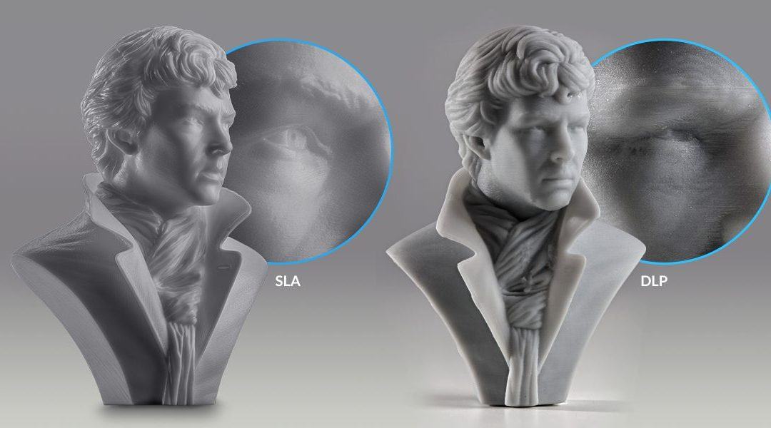 Comparaison SLA DLP - technologie impression 3D resine