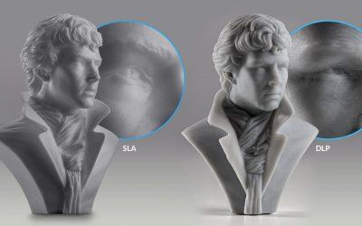 Comparaison des technologies d'impression 3D résine SLA et DLP
