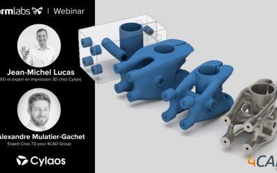 Webinaire Formlabs : Optimisation topologique de pièces mécaniques imprimées en 3D